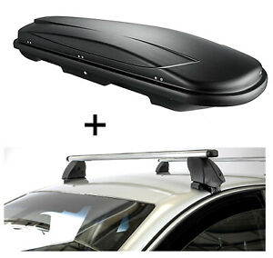 Dachbox VDPJUXT400L+Dachträger K1P Alu für Mini Cooper 3Türer 01-13