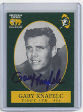PACKERS Gary Knafelc signed Packer HOF card AUTO Autographed Green Bay
