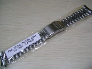 BRAND NEW STAINLESS STEEL JUBILEE BRACELET FOR SKX  DIVER'S WATCH 7S26/7002 etc.