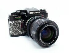 Olympus om40 Program w/ 35-70mm f4 S Zuiko In Hand-Cut Black & White Snakeskin
