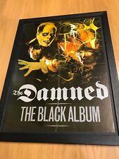 THE DAMNED RARE ORIGINAL 1985 BLACK ALBUM FRAMED PUNK PROMO POSTER