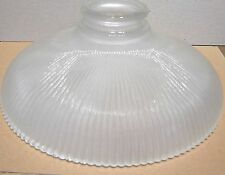 HOLOPHANE STYLE RIBBED FROST INTERIOR REFLECTOR GLASS LAMP GLOBE SHADE