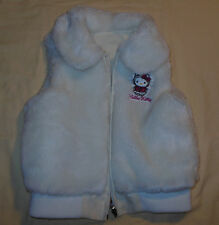 2007 Hello Kitty Reversible Vest Jacket Faux Fur & Vinyl Coat Size 5 Girls Youth