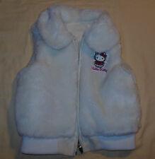 2007 Hello Kitty Reversible Vest Jacket Faux Fur & Vinyl Coat Size 5 Girls Youth
