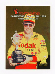 Sterling Marlin 1995 Zenith Winston Winners All Gold Foil Insert Card Pinnacle 5