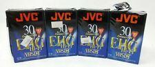 JVC TC-30 EHG HiFi VHS-C Camcorder Blank Cassette Tapes Lot of 4
