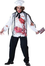 Zombie Goremet Chef Mens Fancy Dress Halloween Horror Adults Costume Outfit