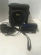 JVC Everio GZ-HM30AU HD  Digital Camcorder Blue WORKS W/ Charger And Case