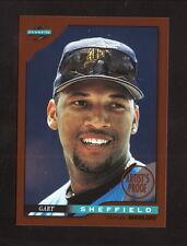 Gary Sheffield--1996 Score Dugout Artist's Proof Baseball Card--Florida Marlins