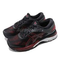 Asics Gel Kayano 25 D Wide Black Classic Red Women Running Shoes 1012A032-004