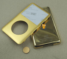 Golden Front Face Back Housing Case Cover Button for iPod 7th Classic thin 160gb