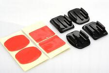 4 Montage-Platten mit Anklebe-Pads für GoPro Go-Pro 1,2,3,3+