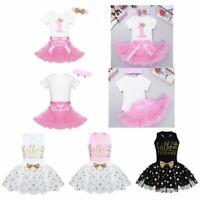 Toddler Birthday Party Dress Kids Baby Girls Princess Tutu Skirts Romper Costume