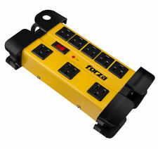 Forza Surge Protector Power Strip AC 110-220 8 Nema Outlets Metal, Heavy - duty