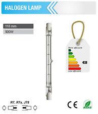 10x=> Halogen Lamp 500W Tube Light Bulbs Floodlights R7S J78 118mm 220-240V