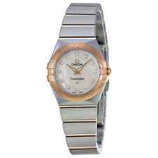 Omega Ladies Constellation MOP Quartz Swiss Made Watch  123.20.24.60.55.001