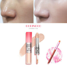Coringco 2 in 1 Duo Concealer  perfect Cover stick liquid type light ivory color