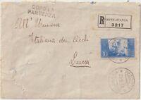 ITALIA 1948 30L COSTITUZIONE ISOLATO SU LETTERA DA PONTE ALL'ANIA BARGA X LUCCA