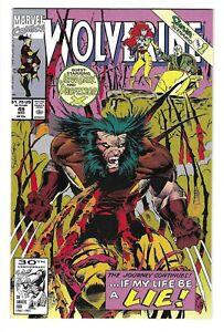 WOLVERINE #49 -- MARC SILVESTRI! LARRY HAMA! HI-GRADE! 1ST EDITION! 1991! NM