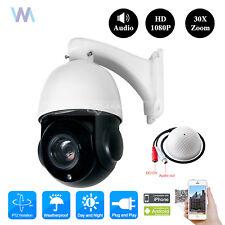 "30X Optical Zoom Security Camera Outdoor Night Vision Audio IR CCTV System 4.5"""