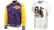 STARTER Lakers Purple GOLD Satin Jacket & Bryant NIKE 81 Points SHIRT M NEW LOT