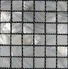 22 Sheets Mother of Pearl Shell Mosaic Tiles River Bed Nature 25mm Squre White