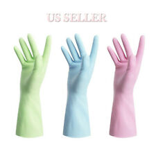 Dishwashing Scrubber Dish Washing Rubber Scrub Gloves Kitchen Cleaning 3 pairs
