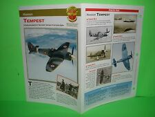 HAWKER TEMPEST AIRCRAFT FACTS CARD AIRPLANE BOOK 48