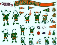UNIVERSITY MIAMI UM HURRICANES FAMILY 28 pc CAR DECAL STICKER PACK NEW CHEAPEST!