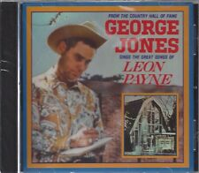 GEORGE JONES SINGS LEON PAYNE Take Me Lifetime To Regret With Half A Heart CD