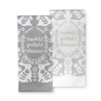 Celebrate Easter Together ~ Thankful, Grateful, Blessed Kitchen Towel 2-pk NWT
