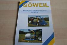 128282) Göweil Rundballen Wickelmaschine Serie 30 Prospekt 200?
