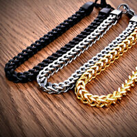 Men's Women Heavy Solid Stainless Chunky Bracelet Cuban Curb Link Chain Bangle