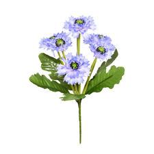 Artificial Cornflower Bouquet 7 Heads 36cm /14 Inches Light Blue