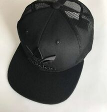 5ccbc4a92f3 Adidas Cap Black Trefoil Trucker Cap Snapback Mesh Hat One Size Adults  Unisex