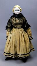 """Estate Antique 19th Century German Parian Doll with hand sewn dress, Large,16"""""""