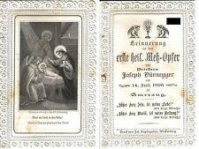 Spitzenbild Krippe Jesus Primiz 1895 Amerang Andacht