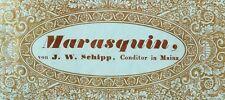 1870's-80's Marasquin, von J.W. Schipp, Mainz Wine Bottle Label Original F58