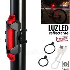 LUZ REFLECTANTE LED trasera bicicleta bici ciclismo 5 LED SEÑALIZACION ROJA