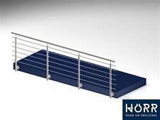 3m Geländer Edelstahl Bausatz Absperrung Balkon Schutz
