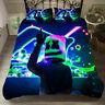 Hot DJ Marshmello 3PCS Bedding Set Quilt Duvet Cover Pillowcase Comforter Cover