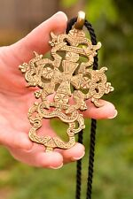 """Large Ethiopian Cross Necklace gift to mom 30"""" Rope"""