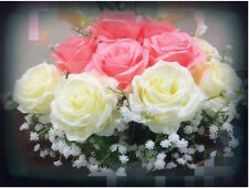 6 Colors Head Real Touch Latex Rose Flowers For Wedding Bouquet Decoration Gift