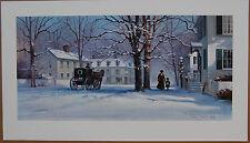 Paul Landry Christmas Treasures Limited Edition Fine Art Print Snow Carriage