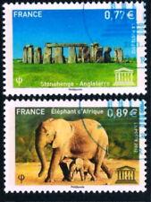SERVICES UNESCO n° 154 à 155 de 2012  OBLITÉRÉS  1er jour