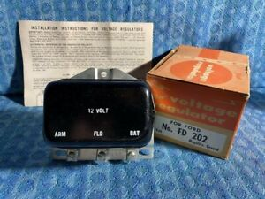 1956 Ford Lincoln Mercury Edsel Continential NORS Voltage Regulator (SEE AD)