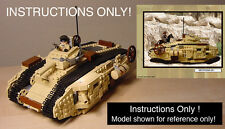 CUSTOM Indiana Jones Last Crusade MKVII TANK (Lego Instructions Only!)
