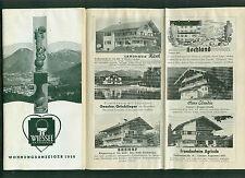 Wiessee am Tegernsee Wohnungsanzeiger 1958 Hotels Zimmer Preise Informationen