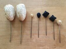 Lot of 7 Antique Decorative Hat Pins