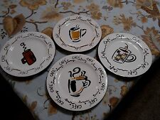 Studio Nova Café Plate 8.25 Inch Salad or Dessert Plate Set of 4